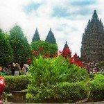 Approach to Prambanan