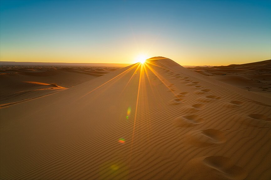 Intentionally Lost Sahara Sunrise