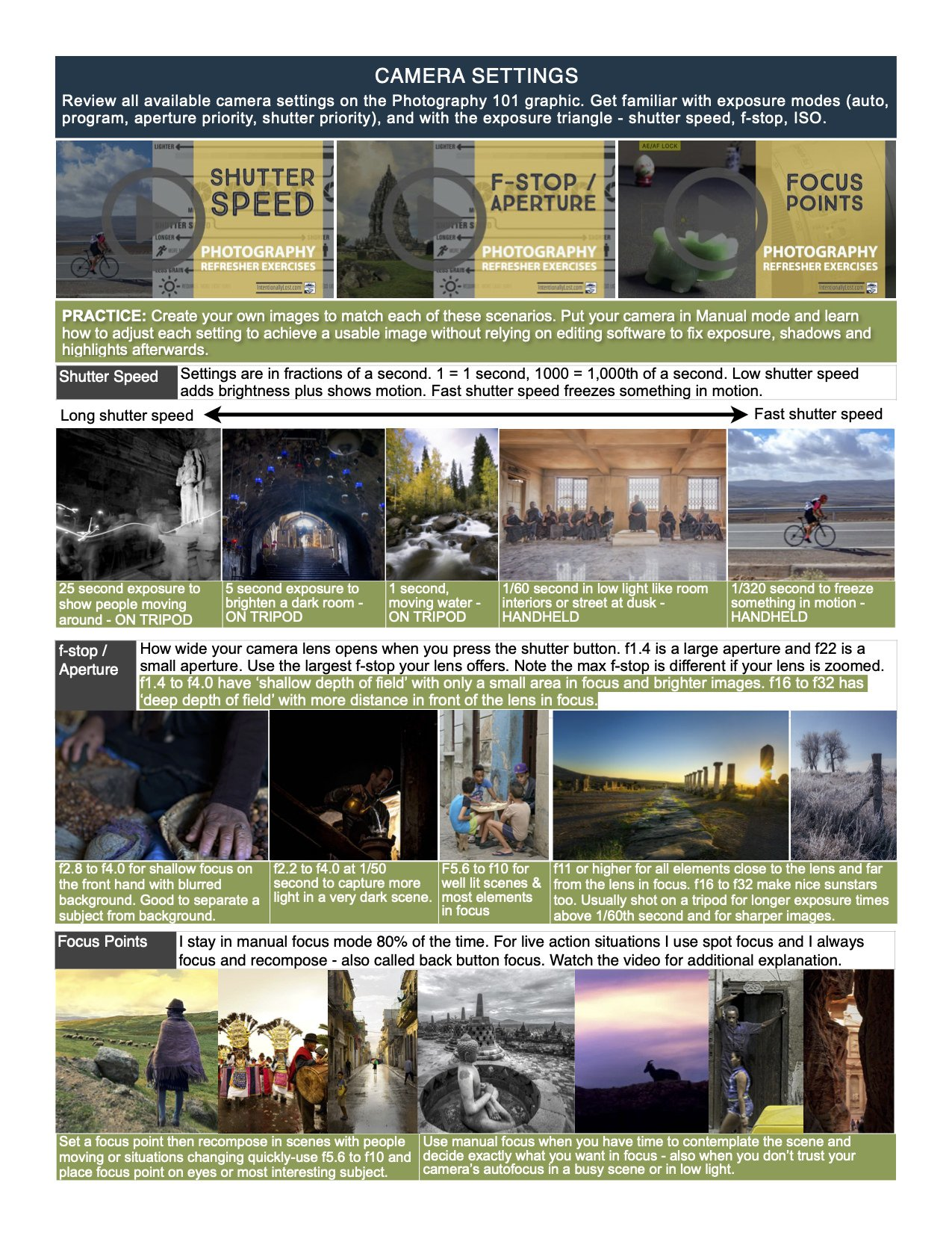 Learn Photography - camera skills, situational skills, photo principles
