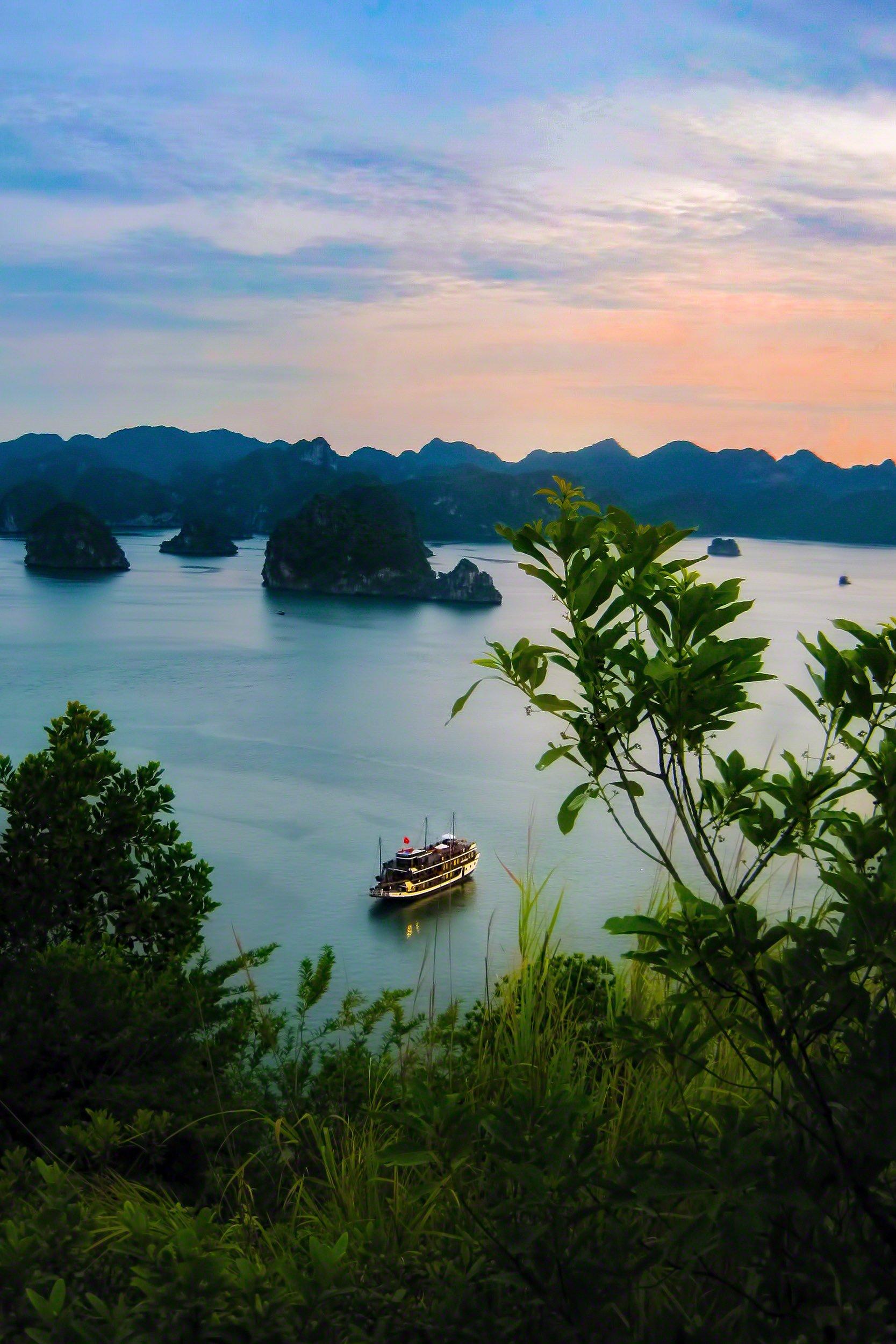 Ha Long Bay at Sunset