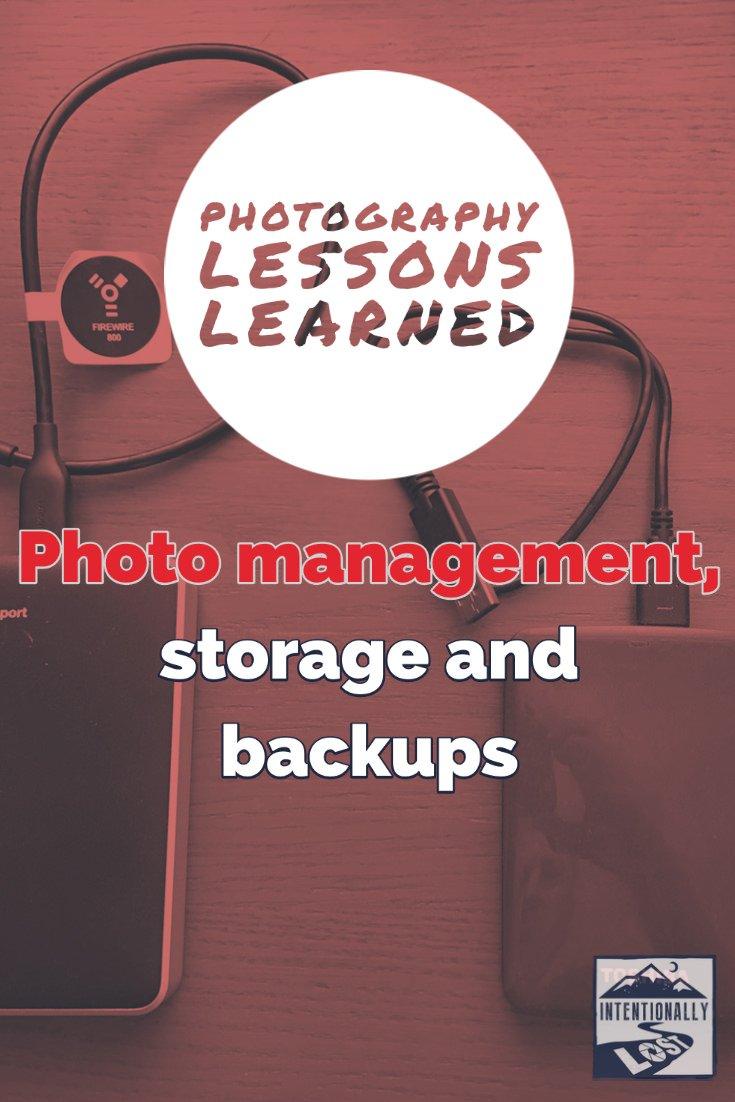 Photo Management - Storage and Backups