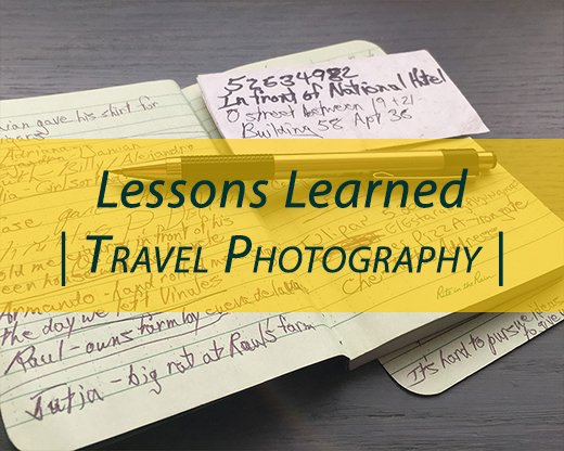Developing the travel experience through photography coverage #intentionallylost