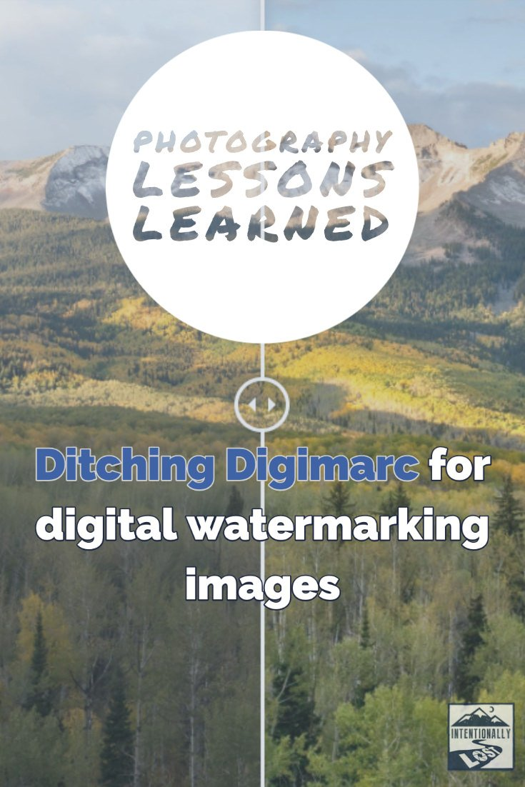 Ditching Digimarc, digital watermark for your photos?