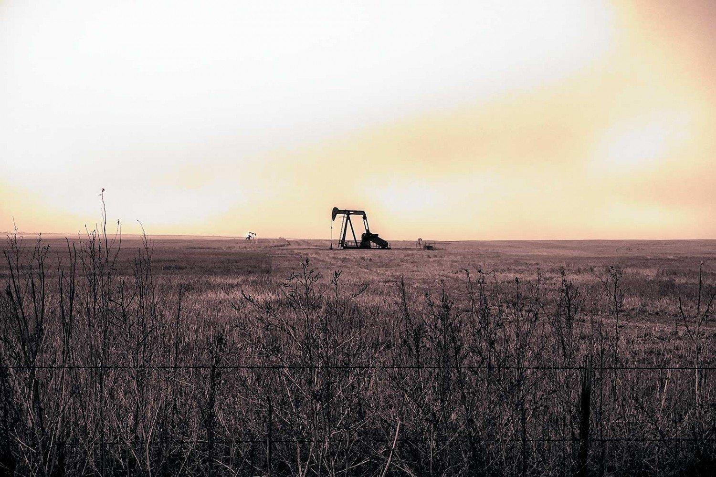 Oil derricks in Northern Colorado