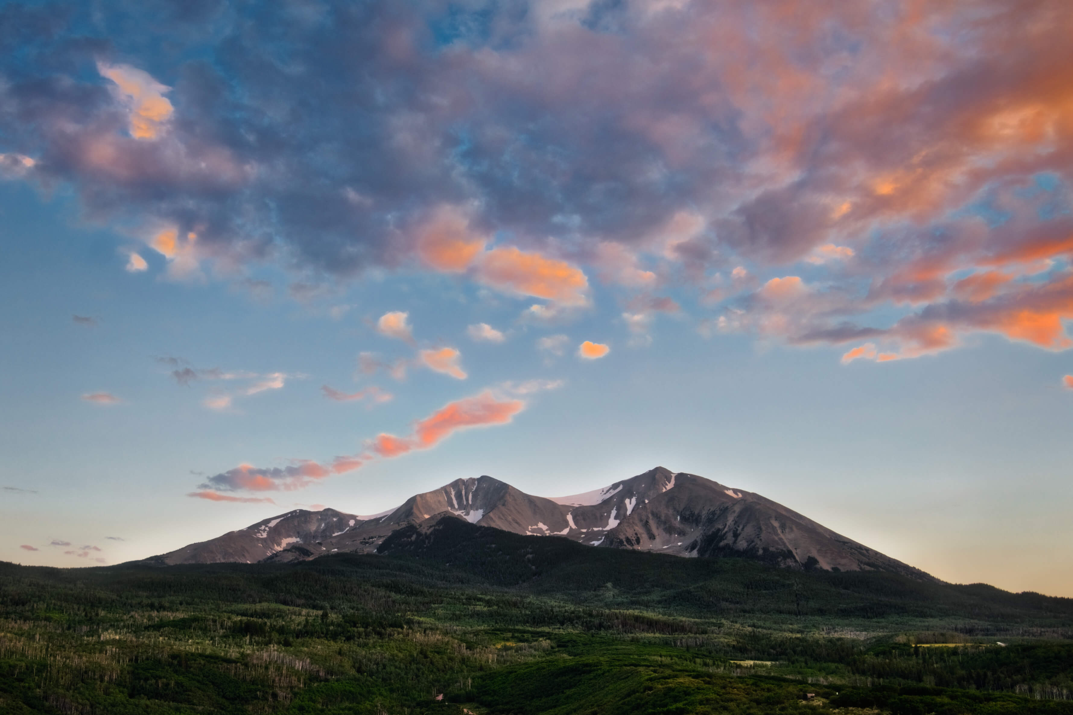 Mount Sopris photographed on the Intentionally Lost cycling tour and photography workshop