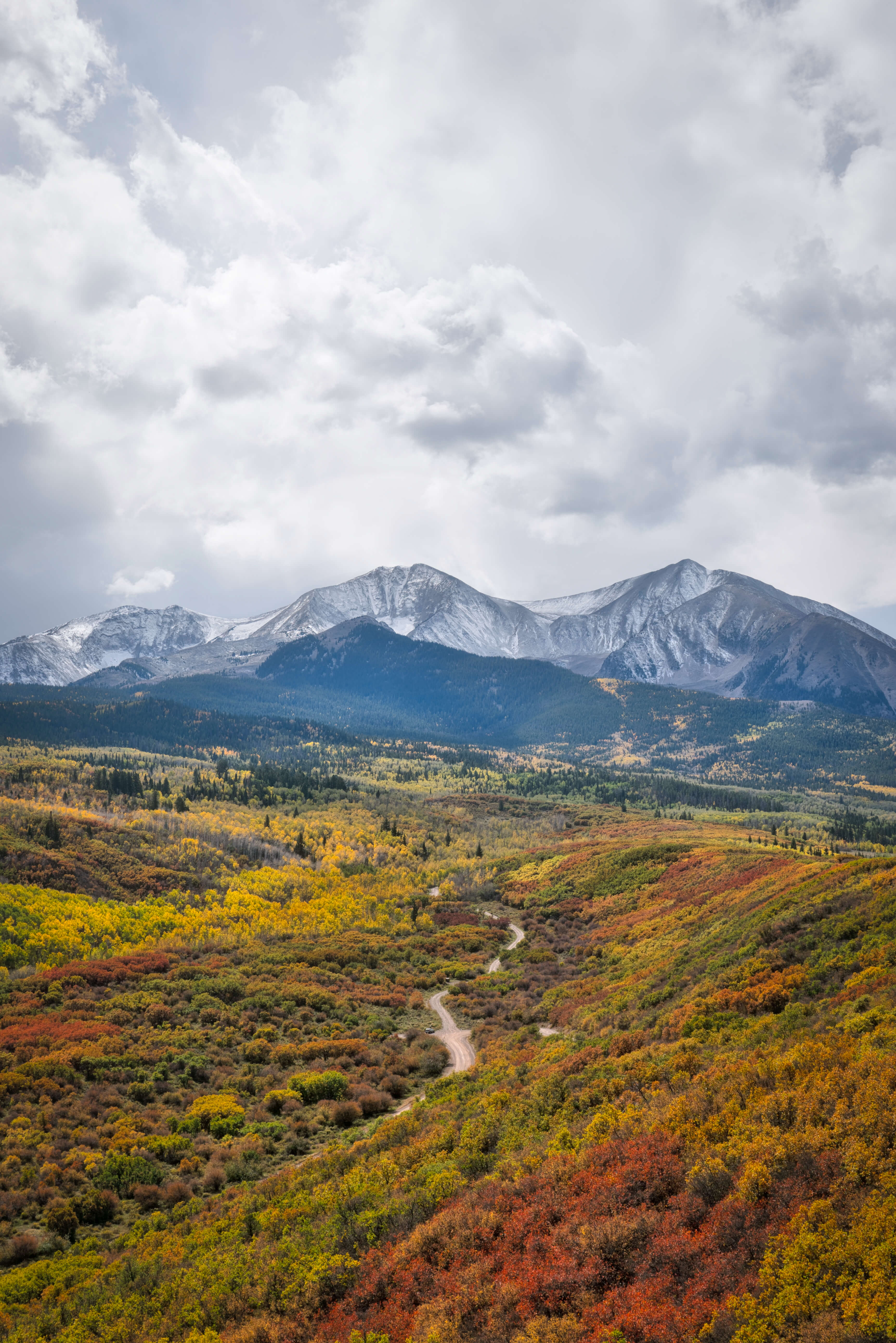 Fall colors on Mount Sopris photographed on the Intentionally Lost cycling tour and photography workshop