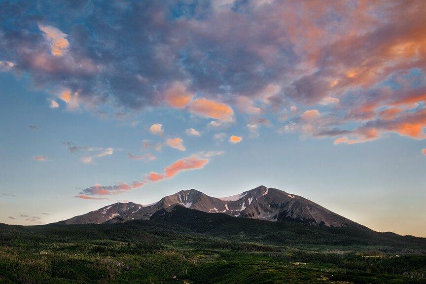 Mount Sopris in Summer