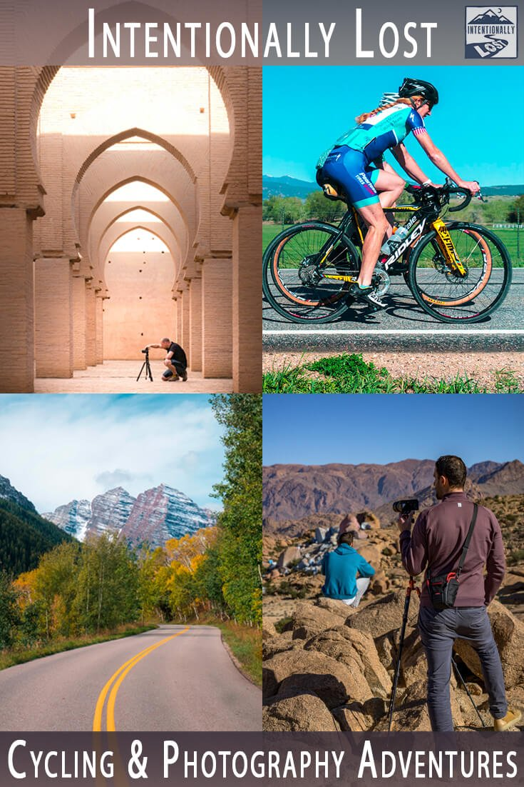 Logos, images, articles, FAQ and contact info to learn about a cycling and photography tour.