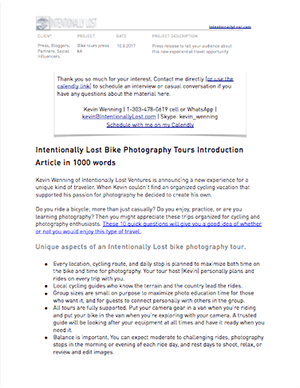 Intentionally Lost Bike Photography Tour 1000 Word Introduction