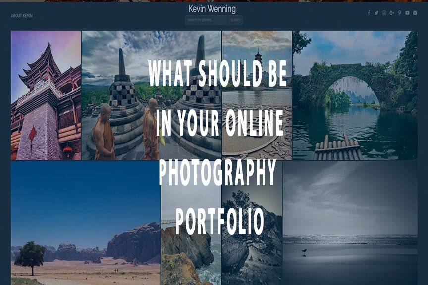What should be in your online photography portfolio