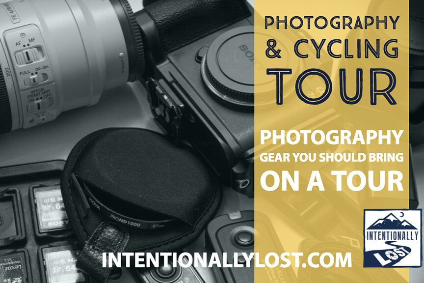 Photography Gear to pack for a photography and cycling tour