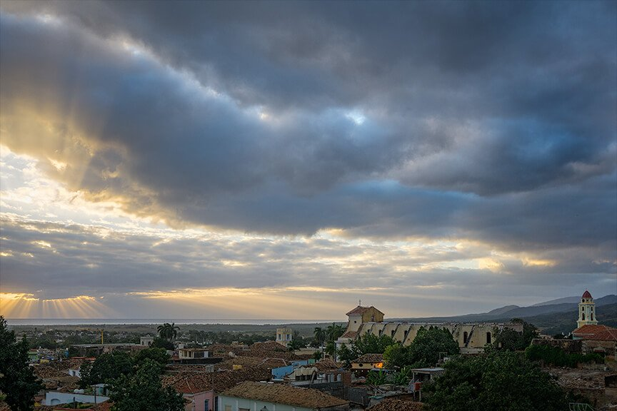 God Rays over Trinidad Cuba from Kevin Wenning and Intentionally Lost #intentionallylost