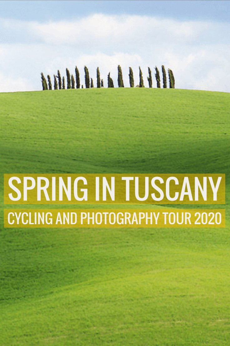 How would you improve on spring in Tuscany Italy? Explore Val d\'Orcia on a cycling tour and photography workshop guided by professional photographers. 