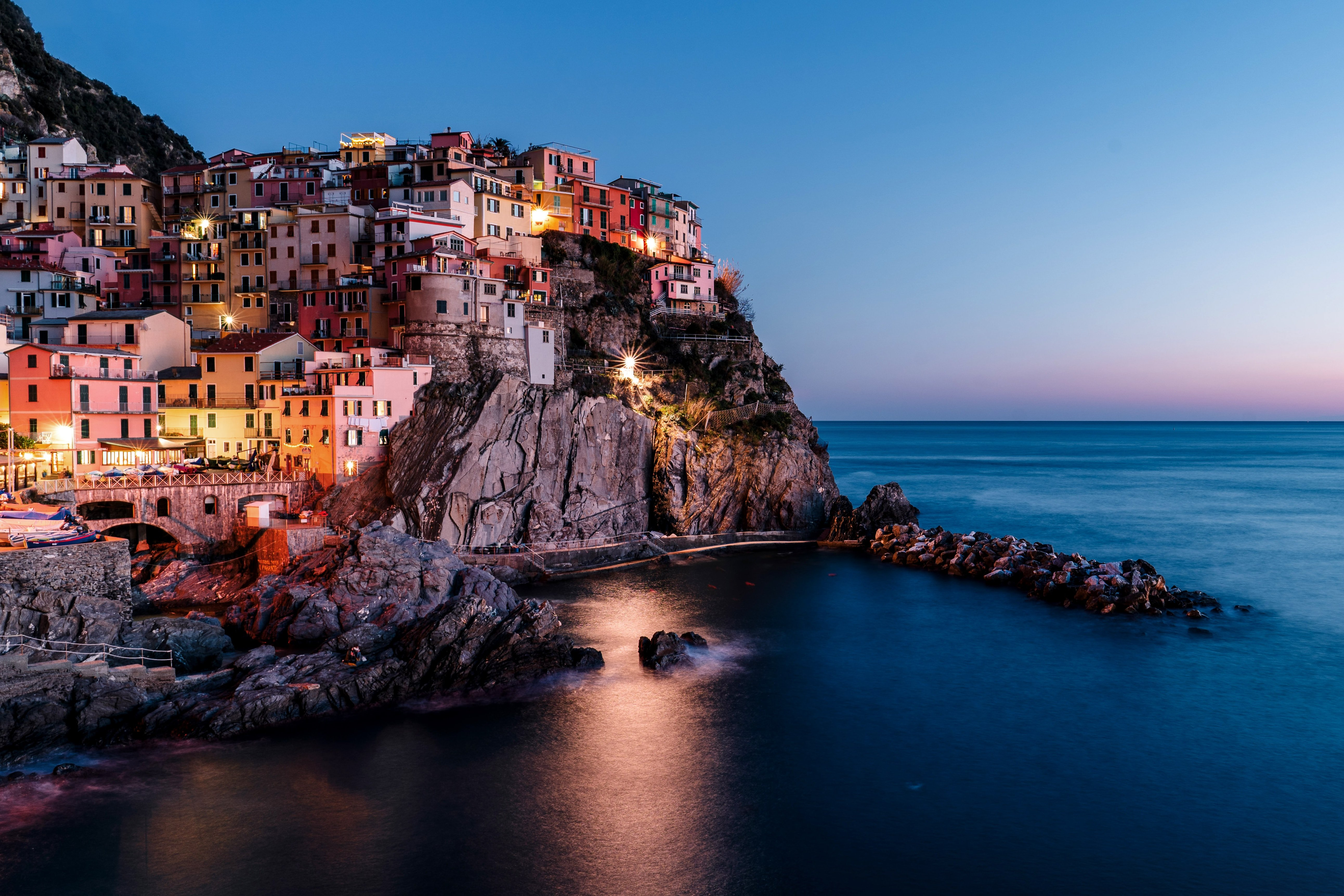 Manarola Italy Sunset on a Cycling and Photography Tour with Kevin Wenning and Intentionally Lost