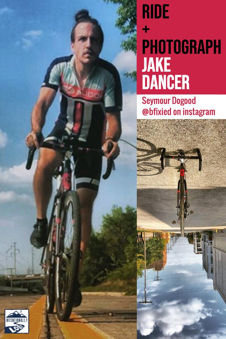 Video interview with Jake Dancer. Cycling and photographing Kansas City Missouri with a unique style via @bfixied on instagram. And what is his Seymour Dogood project about? All about seeing more of your city, and lifting it up every chance you get!  