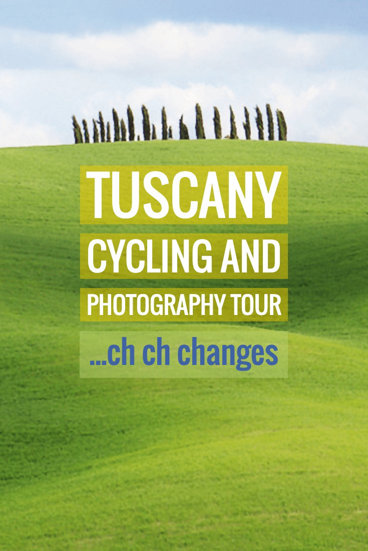 Adjusting the cycling and photography tours to make them non-cyclist friendly, give you options on your daily mileage, and allow more photography time