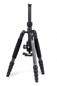 Tripod with inverted center column