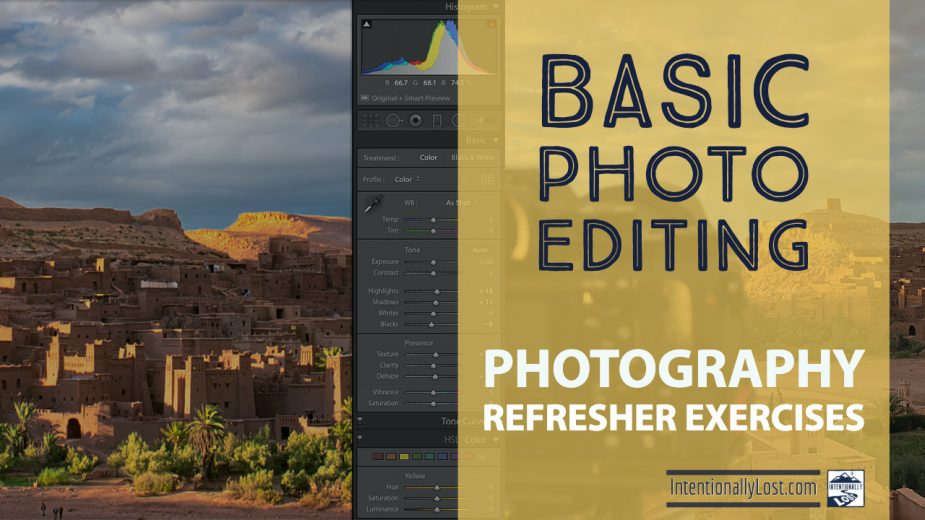 Basic photo editing for learning photography, post processing photos, learn to edit your photos #intentionallylost