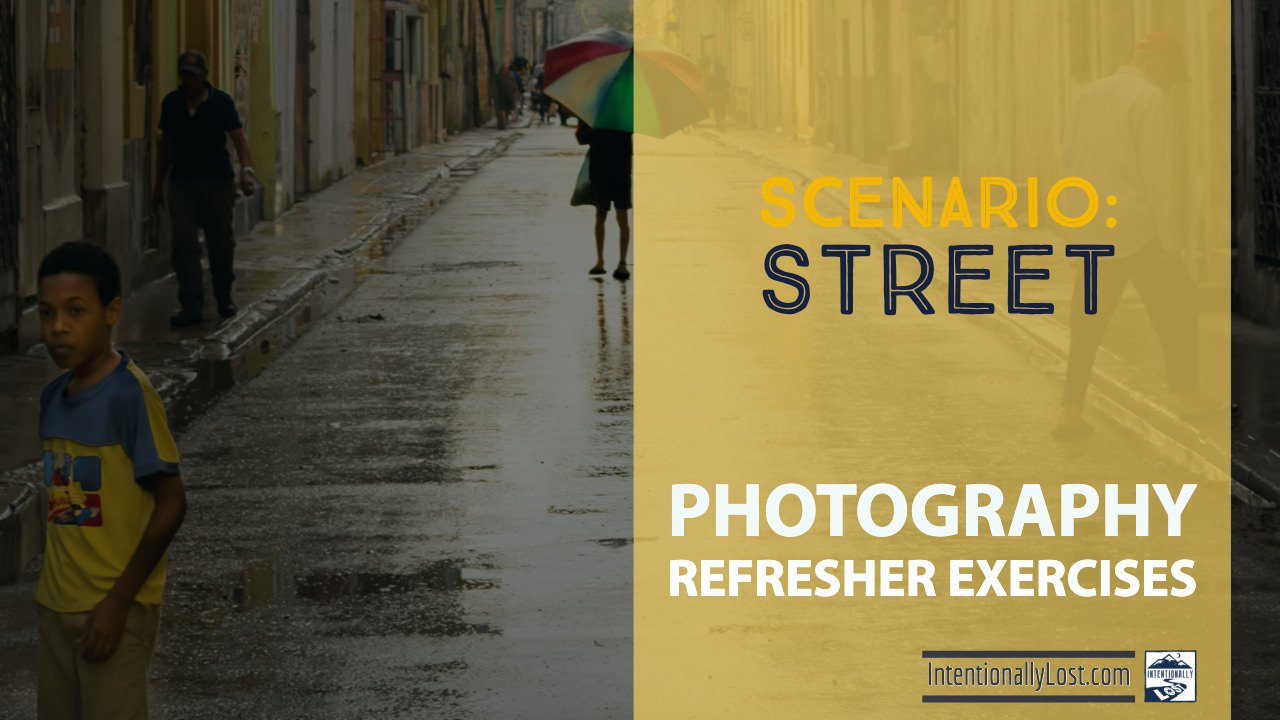 Photography Exercises - street photography #intentionallylost
