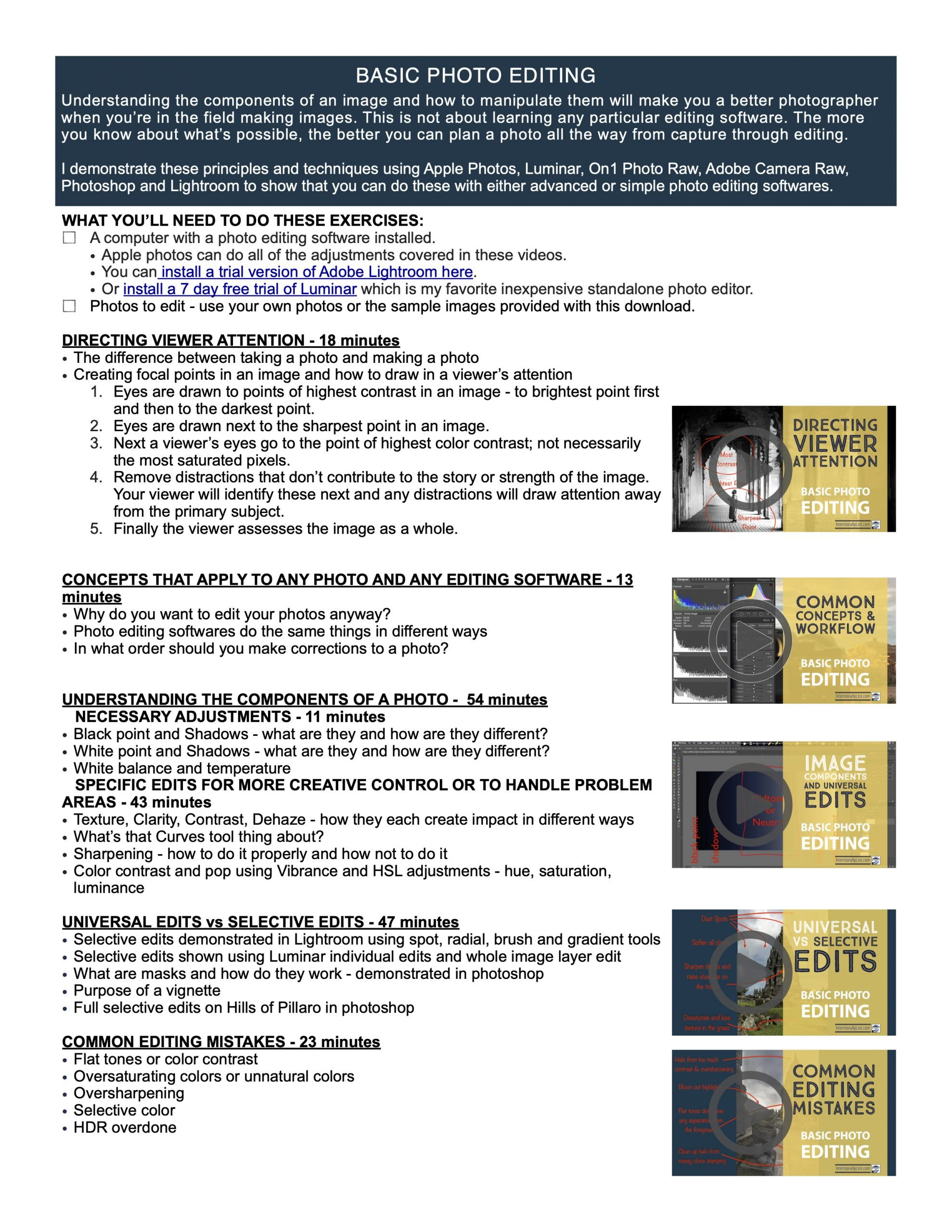 Learn Photography, basic photo editing concepts for any software. Understand components of an image. #intentionallylost