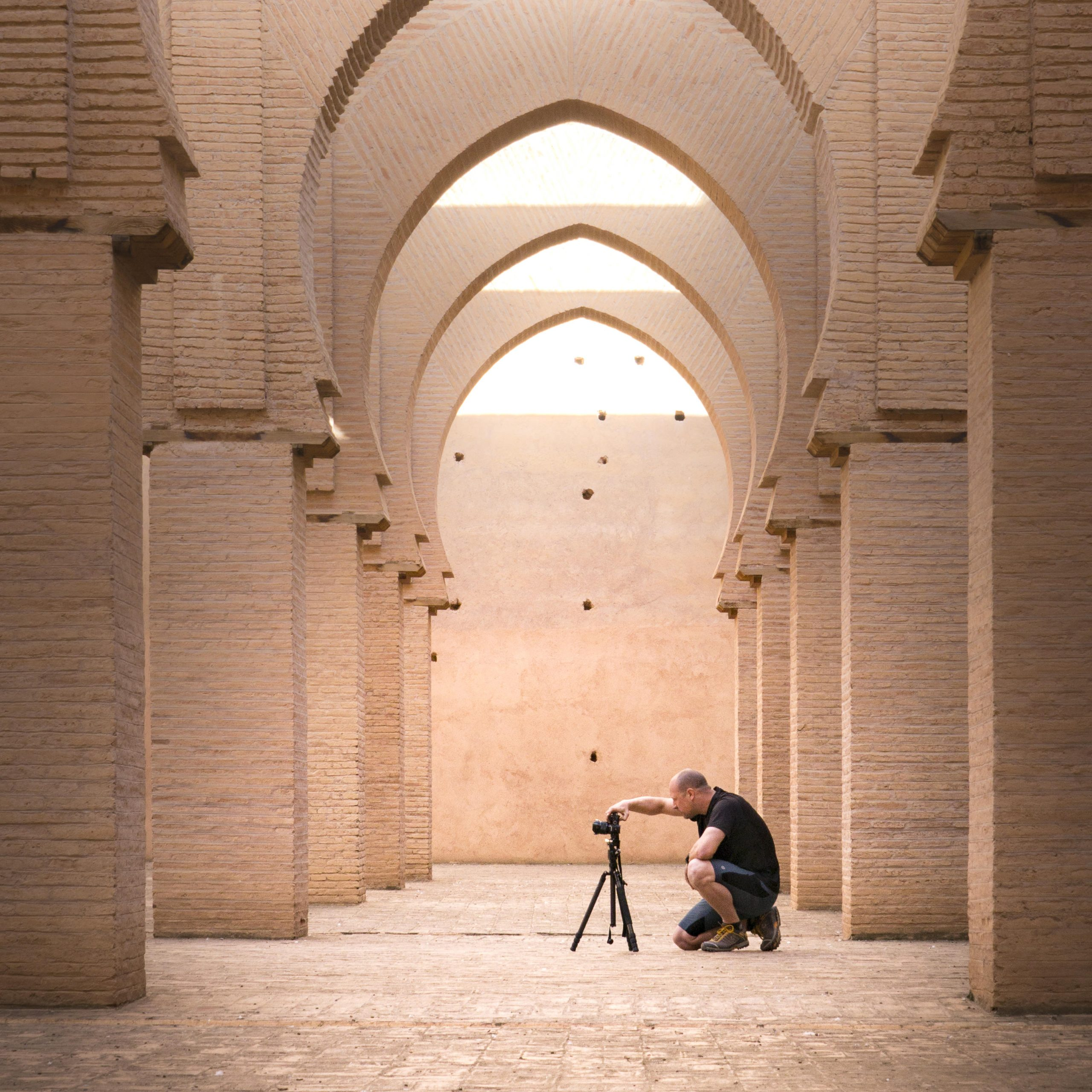 Composing a photograph at Tinmel Mosque in Morocco, Intentionally Lost, Kevin Wenning #intentionallylost