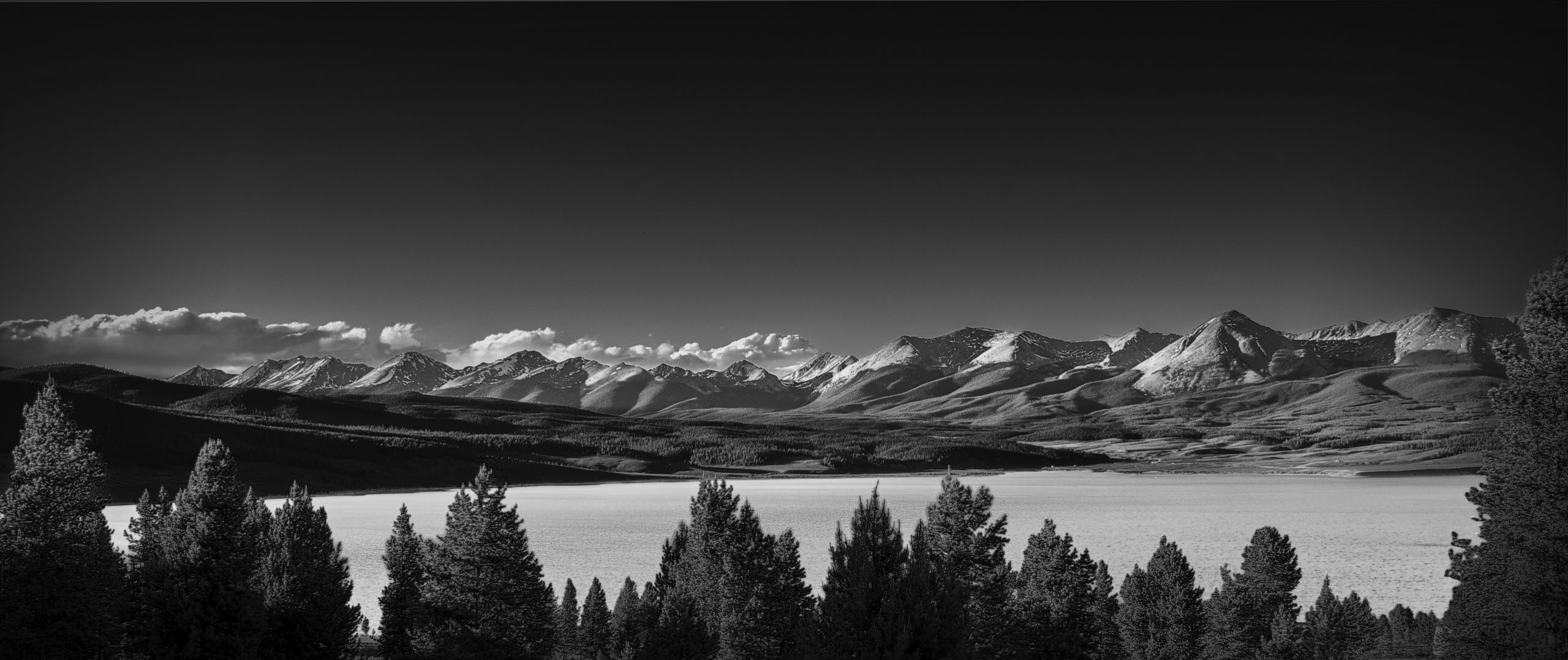 Taylor Park Reservoir and Continental Divide Black and White #intentionallylost