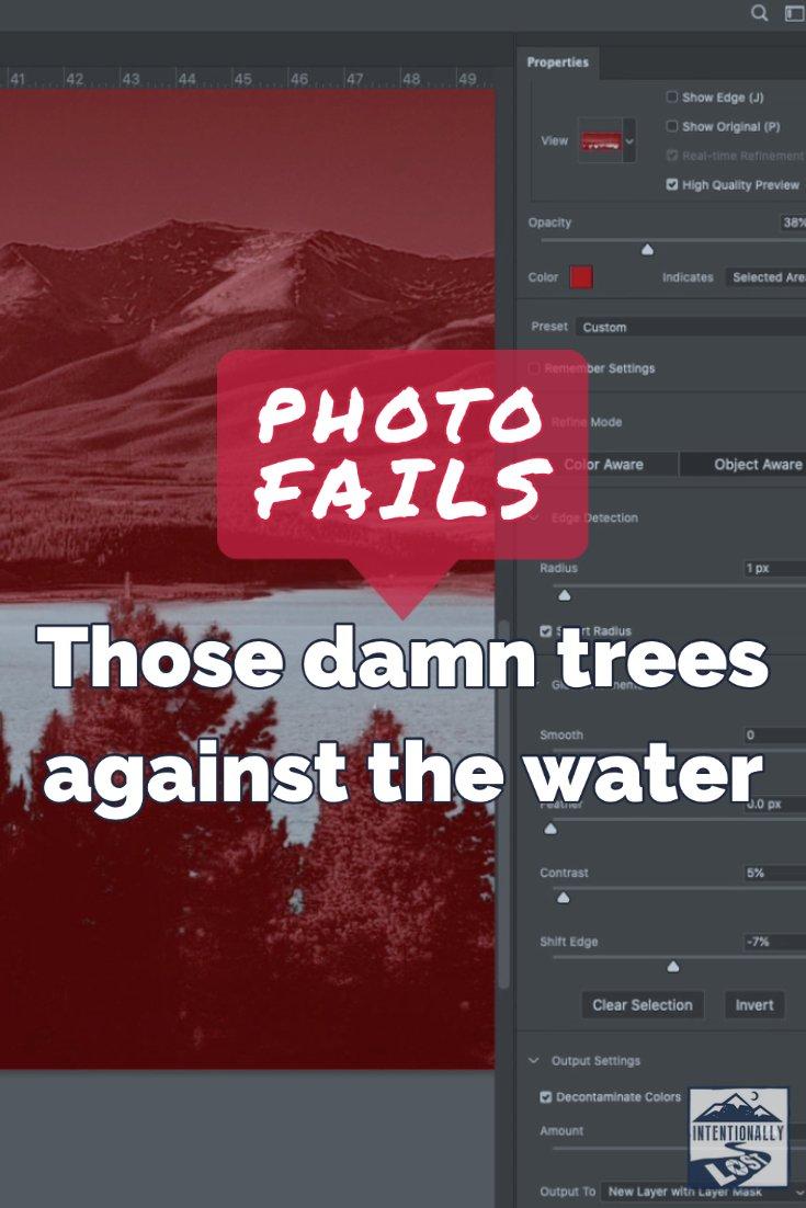 Photo Fails poor tree masking