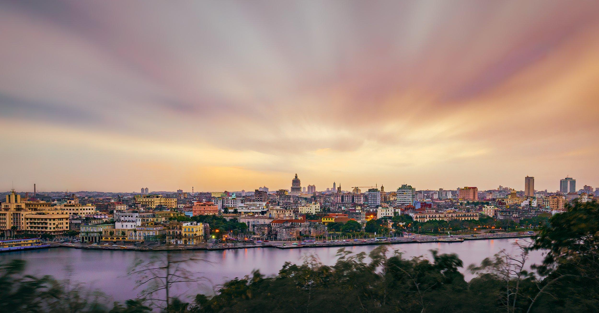 sunset over the skyline of Havana Cuba #intentionallylost