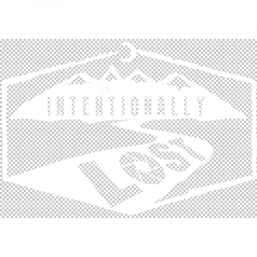 Intentionally Lost landscape logo white outline